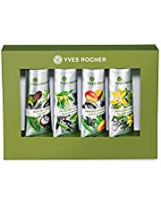 Yves Rocher Women Beauty Gift Set Moisturizing Hand Cream Collection (4 x 30 ml) Enriched in Shea butter and organically-grown Aloe Vera, for dry hands