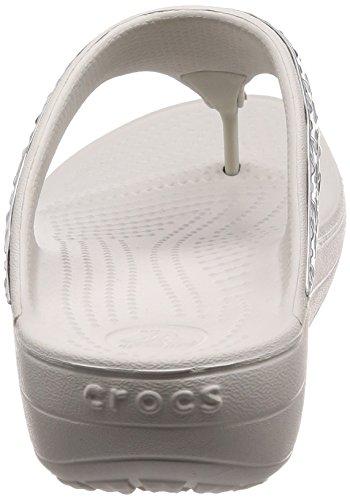 W Flip Met Crocs 178 Playa pearl silver Para De Graphic White Y Blanco Mujer Sloane Piscina Etched Zapatos BqBXSI