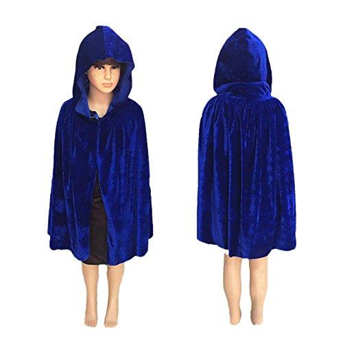 vimans 2017 Fashion Kids Halloween Costume Purple Shawl Cloak Cape with Hood, S ()