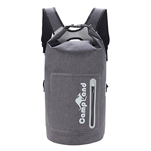 CampLand Business/Outdoor Waterproof Backpack Dry bags Large 30L with Removable Laptop Sleeve - Keep Gear Dry For Fish by CampLand