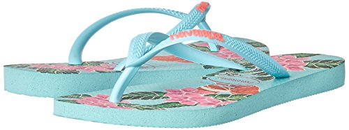 Pictures of Havaianas Women's Slim Floral Sandal Ice Blue B(M) 4