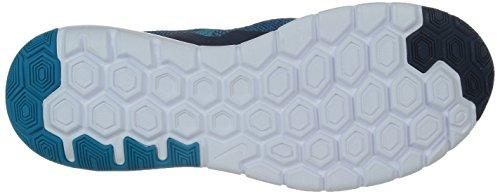 Nike Flex Experience Run 4 Premium - Zapatillas para hombre, color azul marino / turquesa / blanco