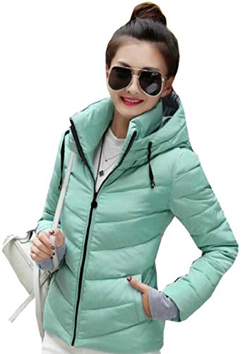 Gocgt Womens Warm Without Weight Women's Ultralight Down Jacket with Hood Blue