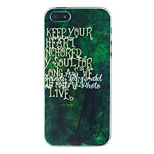 JJE Well-Know Saying Embossment Back Case for iPhone 5/5S