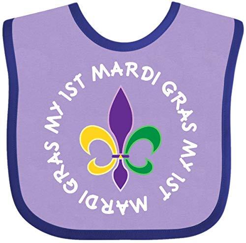 (Inktastic - My 1st Mardi Gras Fleur De Lis Baby Bib Lavender and Purple 28c2a )