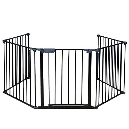 Price comparison product image Apelila Fireplace Fence Baby Safety Walk-Through Door, Metal Fire Gate / Wide Barrier Gate Pets Dog Cat Christmas Tree Fence (02)