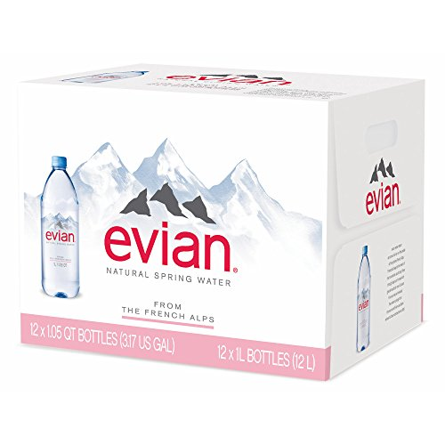 Evian Natural Spring Water, 12 pk./1L (pack of 6) by evian