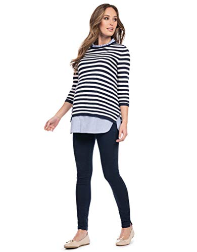 Seraphine Womens Casual Jumper Nursing Jumper Maternity in Nautical Blue -