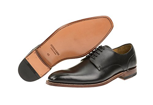 Gordon & Bros - Zapatos de cordones de Piel para hombre Negro - torino black antique tan