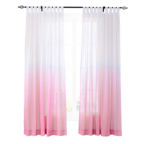 Used, ChadMade Indoor Outdoor Gradient Ombre Sheer Curtain for sale  Delivered anywhere in USA