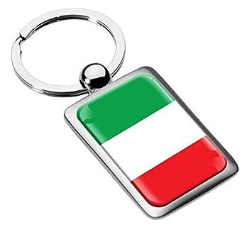 Llavero con la bandera de Italia Metal Keyring Llave de ...