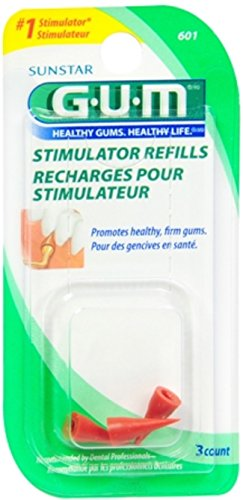 GUM Stimulator Refills [601] 3 Each (Pack of (Gum Stimulator Refills)