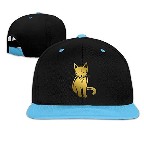 Golden Necklace Cat Hip Hop Baseball Caps Trucker Flat Hats for Boys Girls