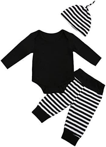 d537ad4a6 Little Brother Big Sister Toddler Baby Boy Girl Long Sleeve Matching Clothes  Romper T-Shirt Tops Dress Outfits, Stripe Pants and Hat for Baby Boy Only  (0-6 ...