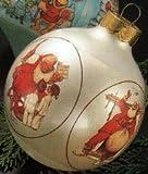 Vintage 1985 NORMAN ROCKWELL SANTA Christmas Ornament (Hallmark Keepsake)