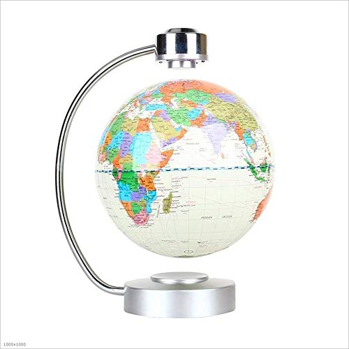 GLOBE AS Magnetic Levitation Globe 8 Inch Rotation Light Office Decoration Globes 360 Rotating Globe Desktop Illuminated (Color : White Glow, Size : -