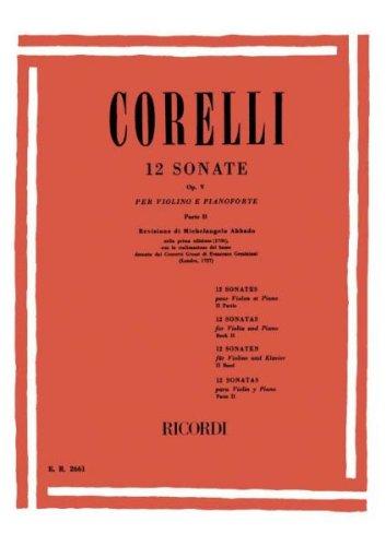 CORELLI - Sonatas Op.5 Vol.2º para Violin y Piano (Abbado) ()