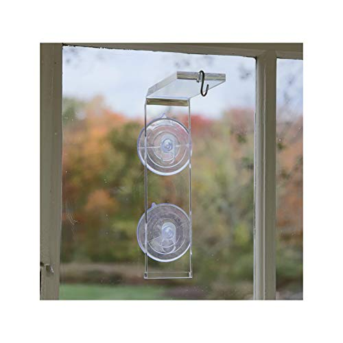 (Veg Dangler Suction Cup Window Hanger – Bird Feeder Holder, Indoor Plant Hanger, Wind Chimes, Ornaments, Flower and Herb Pots, Terrarium, Air Plants, Suncatchers on Wire, Jute or Macramé. Dependable)