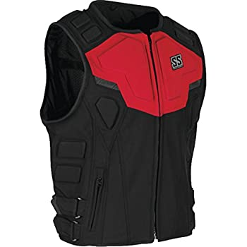 Speed and Strength Critical Mass Armored Men's MX Motorcycle Vest - Red/Black Large