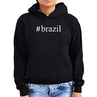 #Brazil Hashtag Women Hoodie