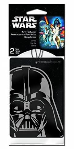 Plasticolor 005545R01 Star Wars 'Darth Vader' Air Freshener, (Pack of 2) (Character Air Freshener)