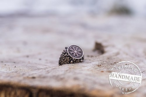 aegishjalmur-or-helm-of-awe-ring-sterling-silver-ring-with-oak-leaves-and-arcons-viking-jewelry-nors