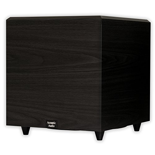 Acoustic Audio PSW12 Home Theater Powered 12' Subwoofer Black Down Firing Sub