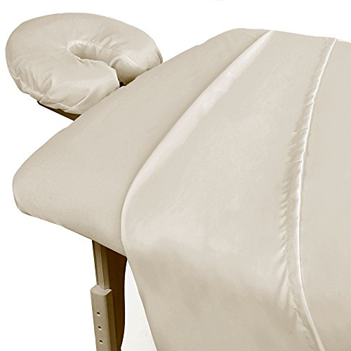 For Pro 3 Piece Premium Microfiber Massage Natural Sheet Set