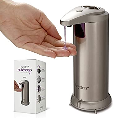 HAYDEN Fingerprint Resistant Stainless Steel Automatic Touchless Soap Dispenser - Brushed Nickel