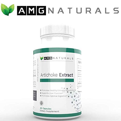 Artichoke Extract Capsules from Artichoke Leaf Standardized with Over 7mg of Cynarin A Great Source for Glucuronic Acid Content to Support Optimal Digestive Health and Estrogen Metabolism