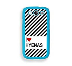 Love Heart Hyenas Aqua Plastic Bumper Samsung Galaxy S3 SIII i9300 Case - Fits Samsung Galaxy S3 SIII i9300