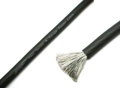 Stinger Pro Series 8 Gauge Translucent Black Power Wire 25