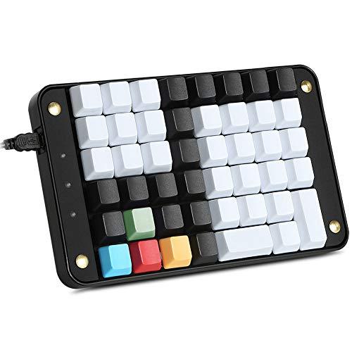 Programmable Keyboard Cable - Koolertron Single-Handed Programmable Mechanical Keyboard with OEM Gateron Red Switch,All 46 Programmable Keys Tools Keypad,8 Macro Keys,PBT Keycap.[SMKD72-B]