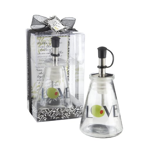 Olive You! Glass LOVE Oil Bottle in Signature