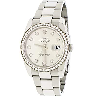 Rolex Datejust II 41mm SS Oyster Watch White MOP Diamond Dial & Bezel Box Papers from Rolex