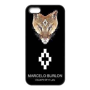 iPhone 5, 5S Cell Phone Case black MARCELO BURLON LOGO FDHFGHFG851543