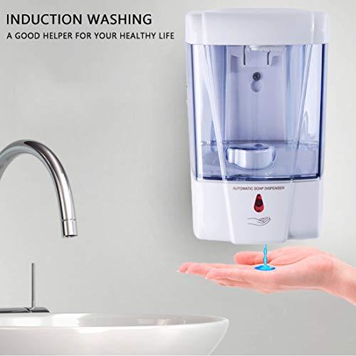 joyliveCY Automatic IR Sensor Soap Dispenser,Wall-Mount Soap Dispenser,700 ml Touchless Soap Dispenser Battery Powered…