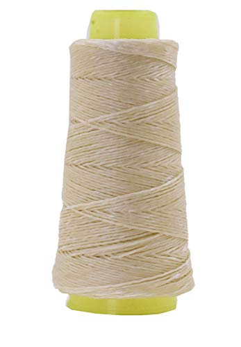 (Mandala Crafts Whipping Twine, Lacing Cord String from Wax Polyester for Cable Tie, Sail Repair, Gardening, Crafting (Natural))