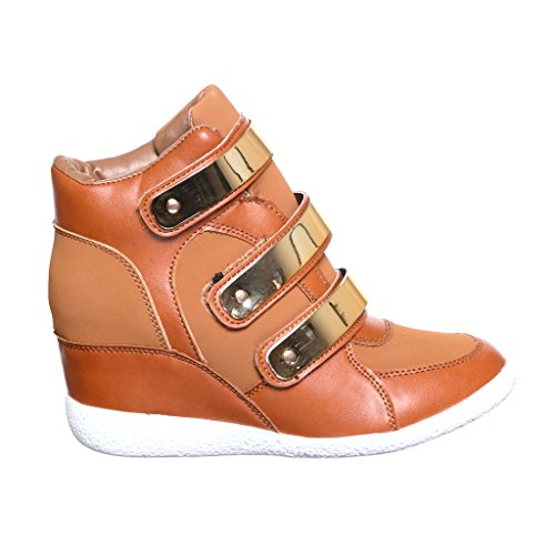 shoewhatever Frauen PL Hi-Top Wedge Schnür Mode Turnschuhe chnnub14