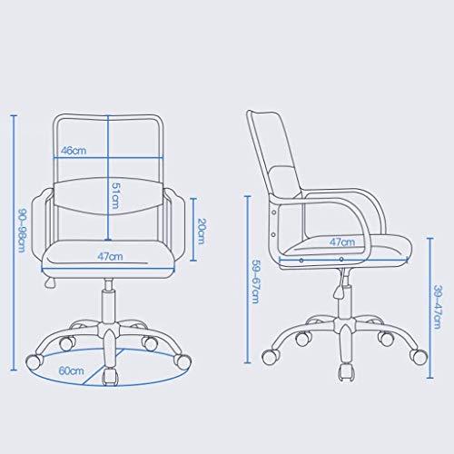DBL datorstol, ergonomisk verkställande fritid stol säte bekväm kontorsstol kontorsstol kontorsstol skrivbordsstolar (storlek: grå)
