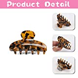 Tortoise Claw Hair Clip for Women,3Pcs 3.5 inch