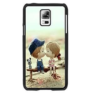 Cute Little Dog Animal Print Hard Phone Case Cover - Pastel Love Couple Kiss Design Samsung Galaxy S5 Case Skin for Girls