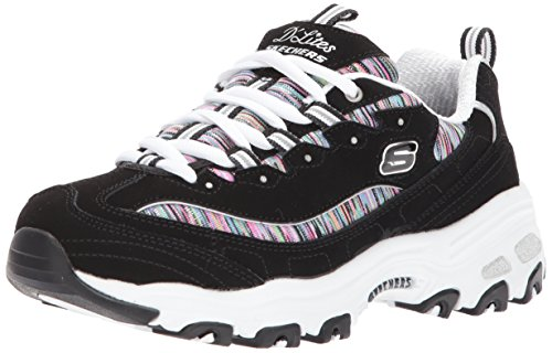 Skechers Sport Women's Dlites Interlude Sneaker,black/multi,10 W US