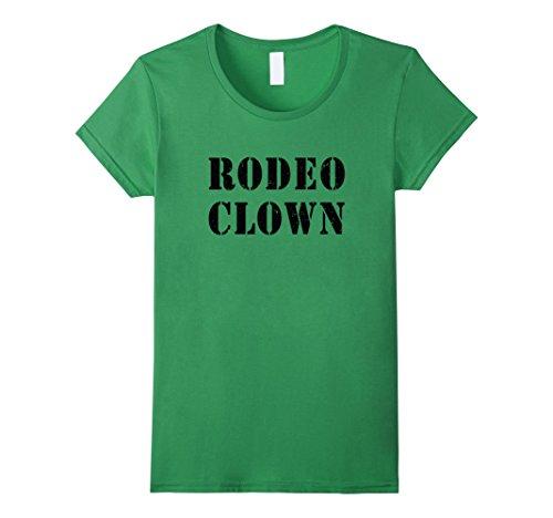 Womens Rodeo Clown Halloween T-Shirt Small Grass