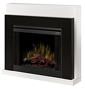 Dimplex Ebony Covertable Corner Electric Fireplace Black/White