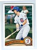DJ LeMahieu baseball card (Cubs Colorado Rockies All Star) 2011 Topps Minors #246 Rookie Card