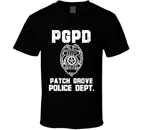 Jokertshirt Patch Grove Wisconsin Police Department Dept Pgpd officer Custom USA City T Shirt M Black (Dept Patch Police)