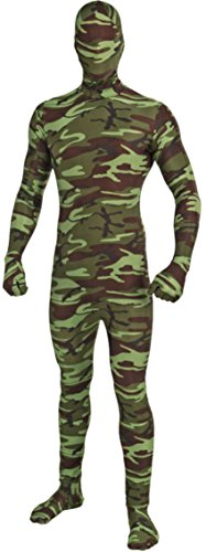 [Forum Novelties I'm Invisible Costume Stretch Body Suit, Camo, Child Medium] (Military Costumes For Teens)