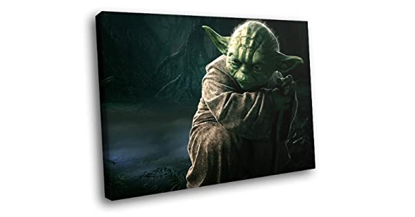 Amazon.com: h5d8639 Yoda Maestro Jedi Star Wars Movie Art 20 ...