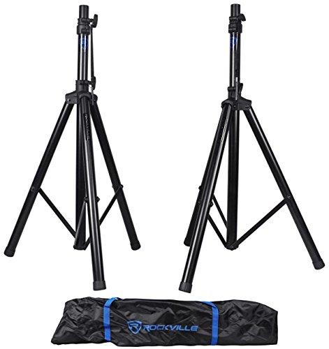 Pair Rockville RVES1 Adjustable Tripod DJ PA Speaker Stands+Carry Bag/Universal
